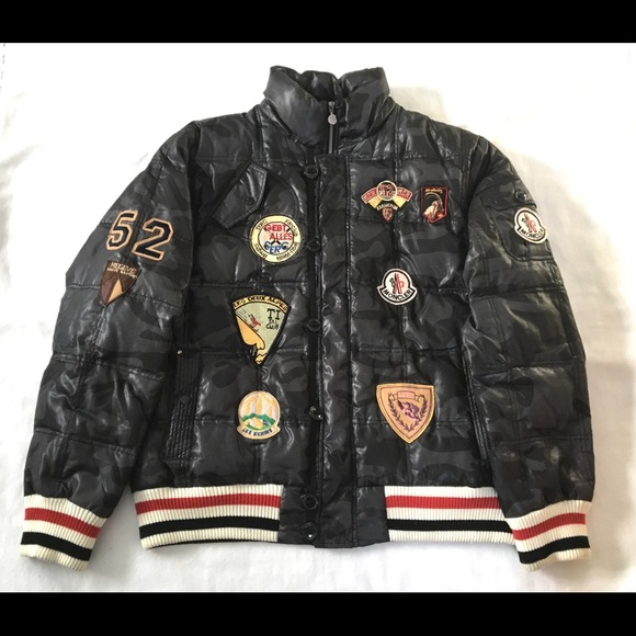 4f88bb9fa Vintage Moncler Down Puffer Patches Jacket
